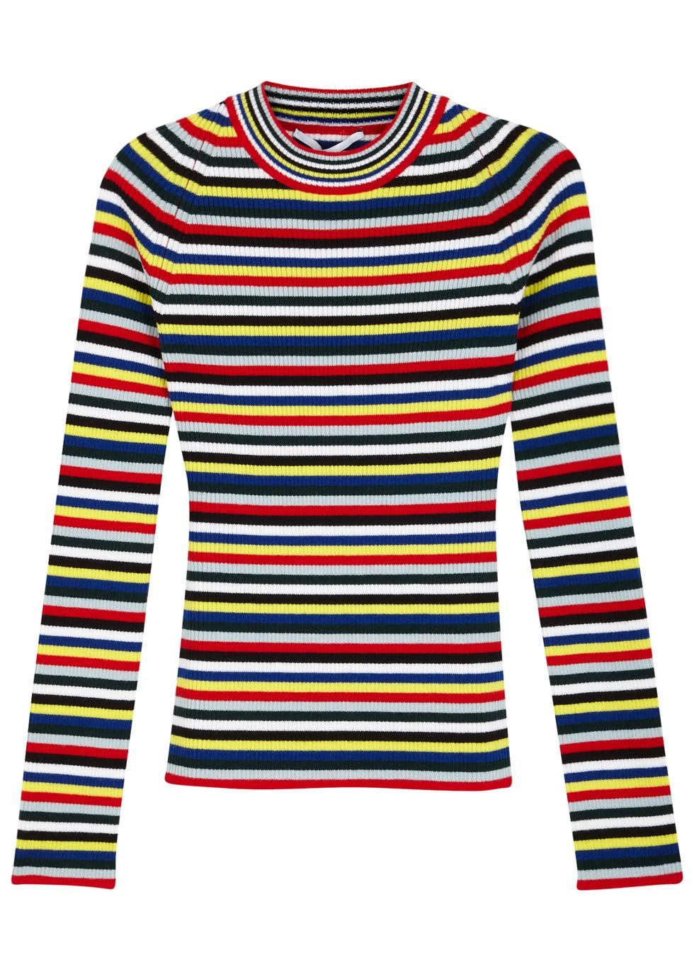 Rosetta Getty Striped merino wool jumper