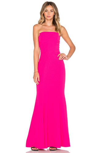 gown strapless pink