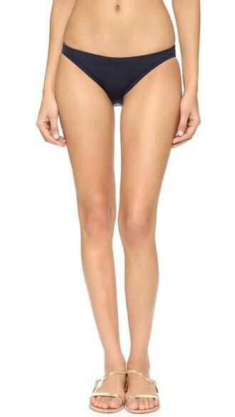 bikini bikini bottoms beach classic navy swimwear