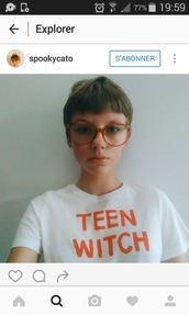 t-shirt,white tee,teenagers,teen witch,witch,witch t-shirt,vintage
