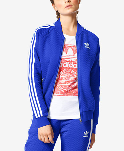 adidas originals track jacket blue