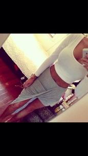 skirt,grey,high-low dresses,gray skirt,wrap skirt