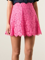 skirt,floral lace skirt,Valentino,lace skirt,floral skirt,floral,lace,pink