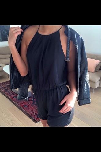 jumpsuit black girl