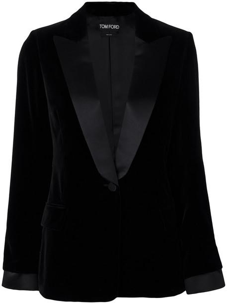Tom Ford blazer women cotton black silk jacket