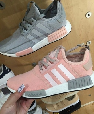 shoes adidas nude grey