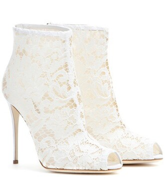 boots ankle boots lace white shoes