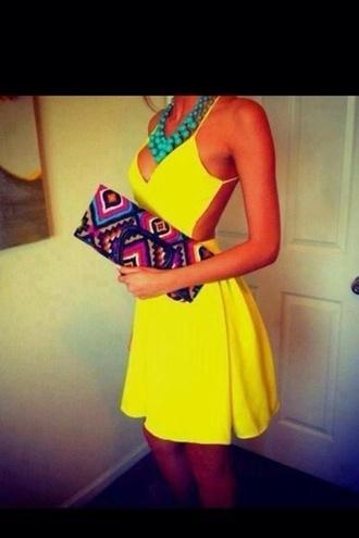 dress yellow bright