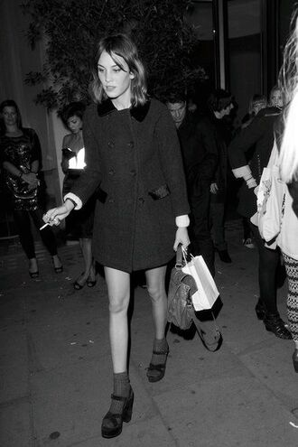 shoes black black shoes high heels black heels sandal heels alexa chung coat