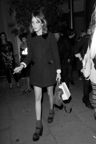 coat alexa chung shoes black black shoes high heels black heels sandal heels