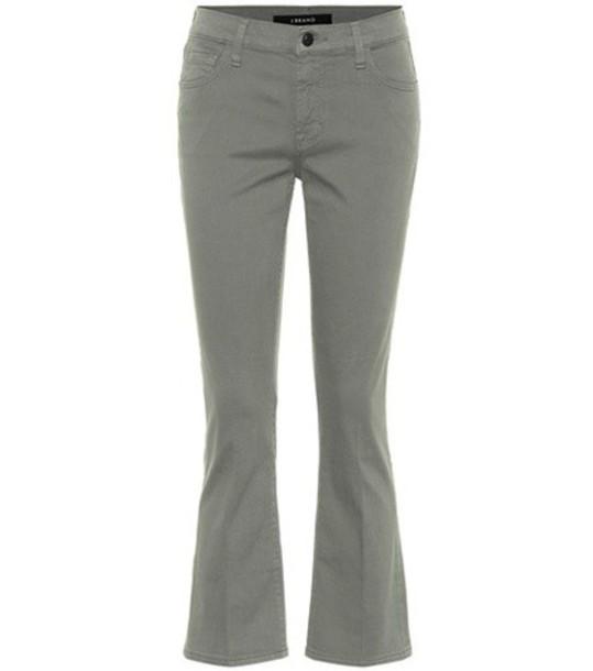 J Brand Selena cropped jeans in green
