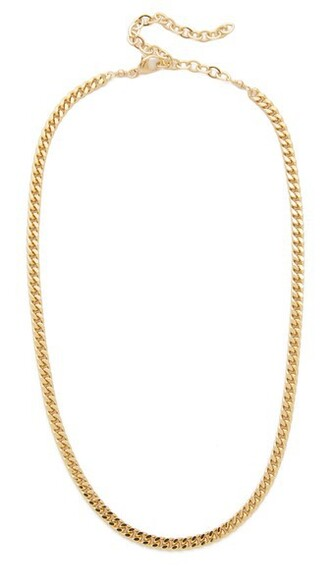 chain necklace necklace gold jewels