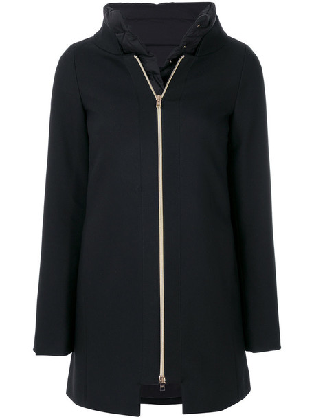 Herno coat women cotton black