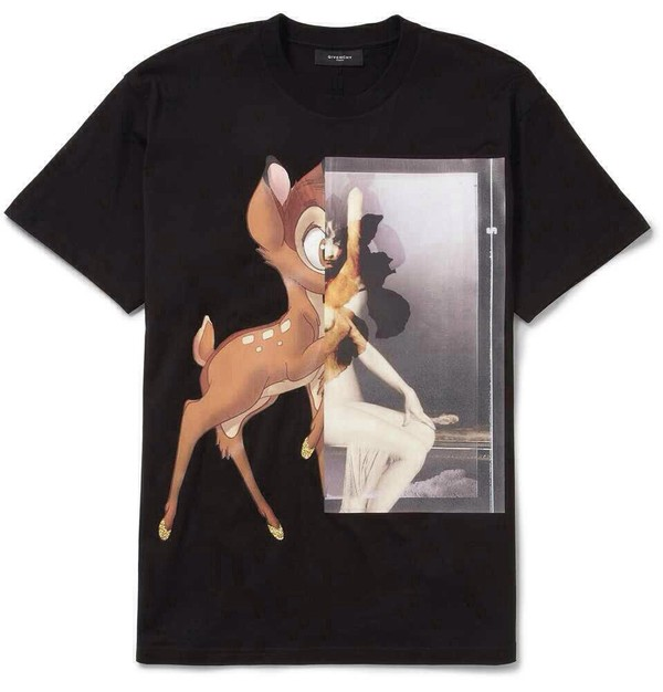 t-shirt givenchy bambi black