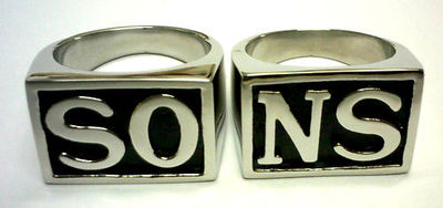 Sons of anarchy 2 pcs ring set jax teller samcro harley hells outlaw angels wcc