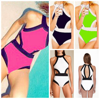 swimwear sexy monokini various bikini black green rose red summer one piece