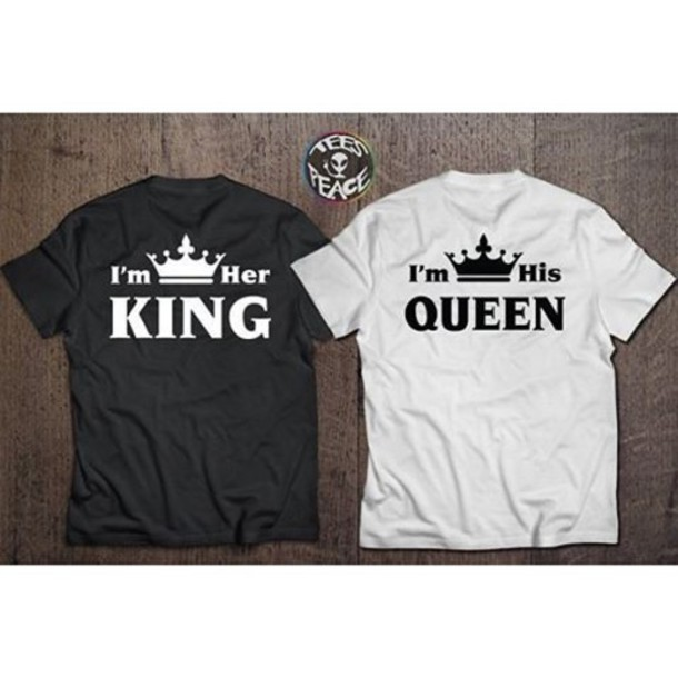 T Shirt Tees2peace Jaime King And Queen Chritmas Presents Valentines Day Gift Idea