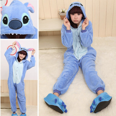 Blue Stitch Onesies Hoodie Pajamas Animal Kigurumi | PajamasBuy