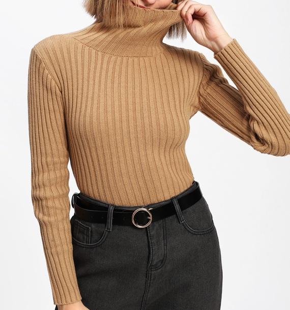 sweater girly knitwear knit knitted sweater turtleneck turtleneck sweater