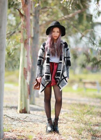 chloe ting sweater skirt bag shirt hat shoes jewels