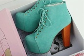 shoes,high,plateau,turquoise,blue shoes,light blue,baby blue,jeffrey campbell lita,lita platform,lita shoes,blue,green,heels,boots,jeffrey campbell,thick heel,platform high heels,bright,blue high heels,aqua,fancy,high heels,lace up heels,green ocean