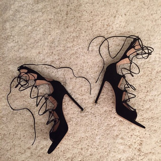 shoes heels black heels straps