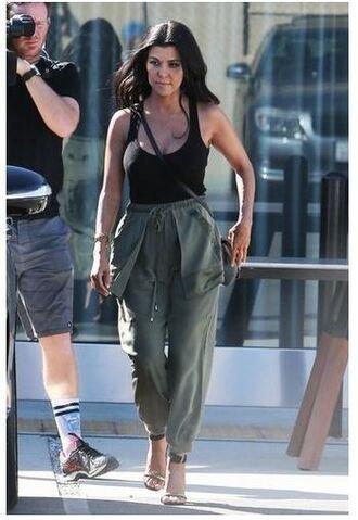 pants top kourtney kardashian sandals