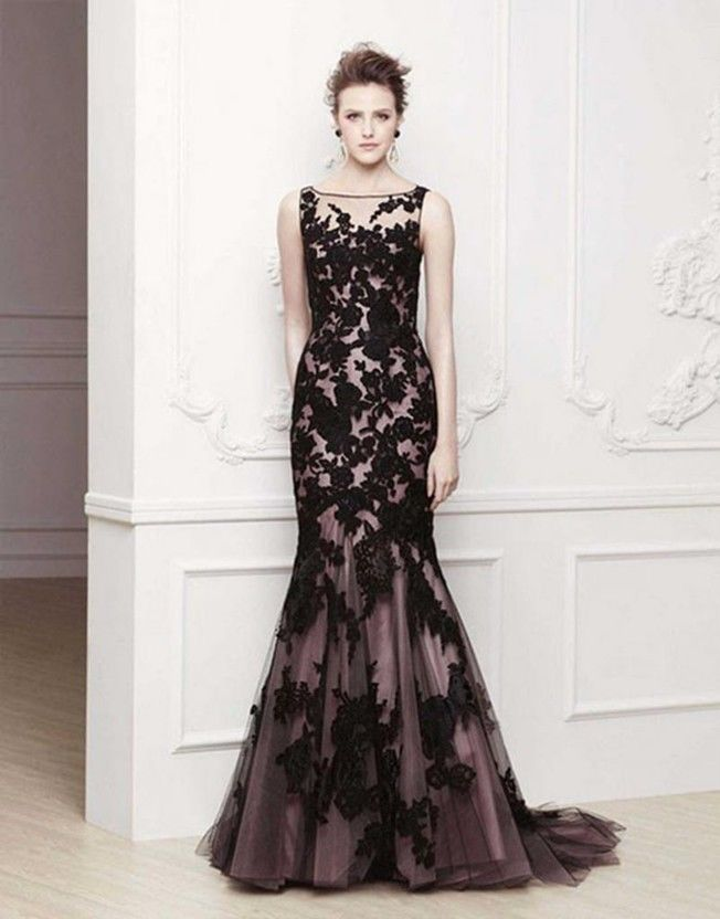 Black Prom Party Ball Gown Formal Wedding Bridesmaid Evening Dress ...