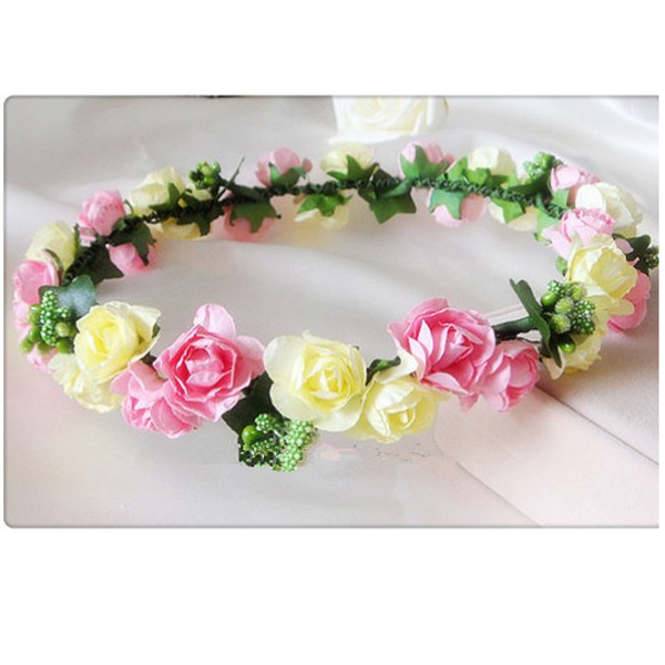 Beautyplanning new 2014 arrival wholesale 1 piece flower headband bridal head band  flower crown women hair accessories-in Apparel & Accessories on Aliexpress.com
