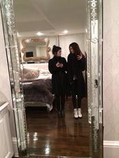 coat,kylie jenner,kendall jenner,black coat,home accessory,mirror