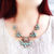 Green Gemstone Gold Chain Necklace - Sheinside.com