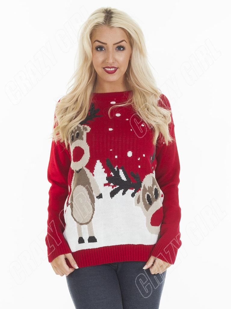 New mens womens ladies novelty christmas knitted jumper retro plus size sweater