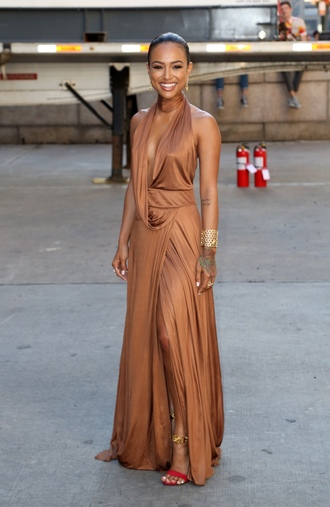 dress gown prom dress wrap dress sandals karrueche long prom dress bracelets