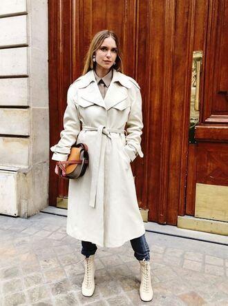 coat purse fashion week paris fashion week 2018 streetstyle pernille teisbaek blogger instagram