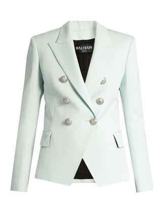 blazer wool light blue light blue jacket