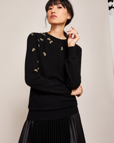 Ted Baker sweater embellished bee black