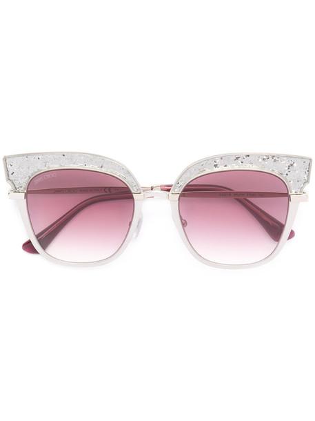 Jimmy Choo metal women sunglasses grey metallic