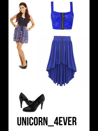 skirt zip dark blue long blue skirt