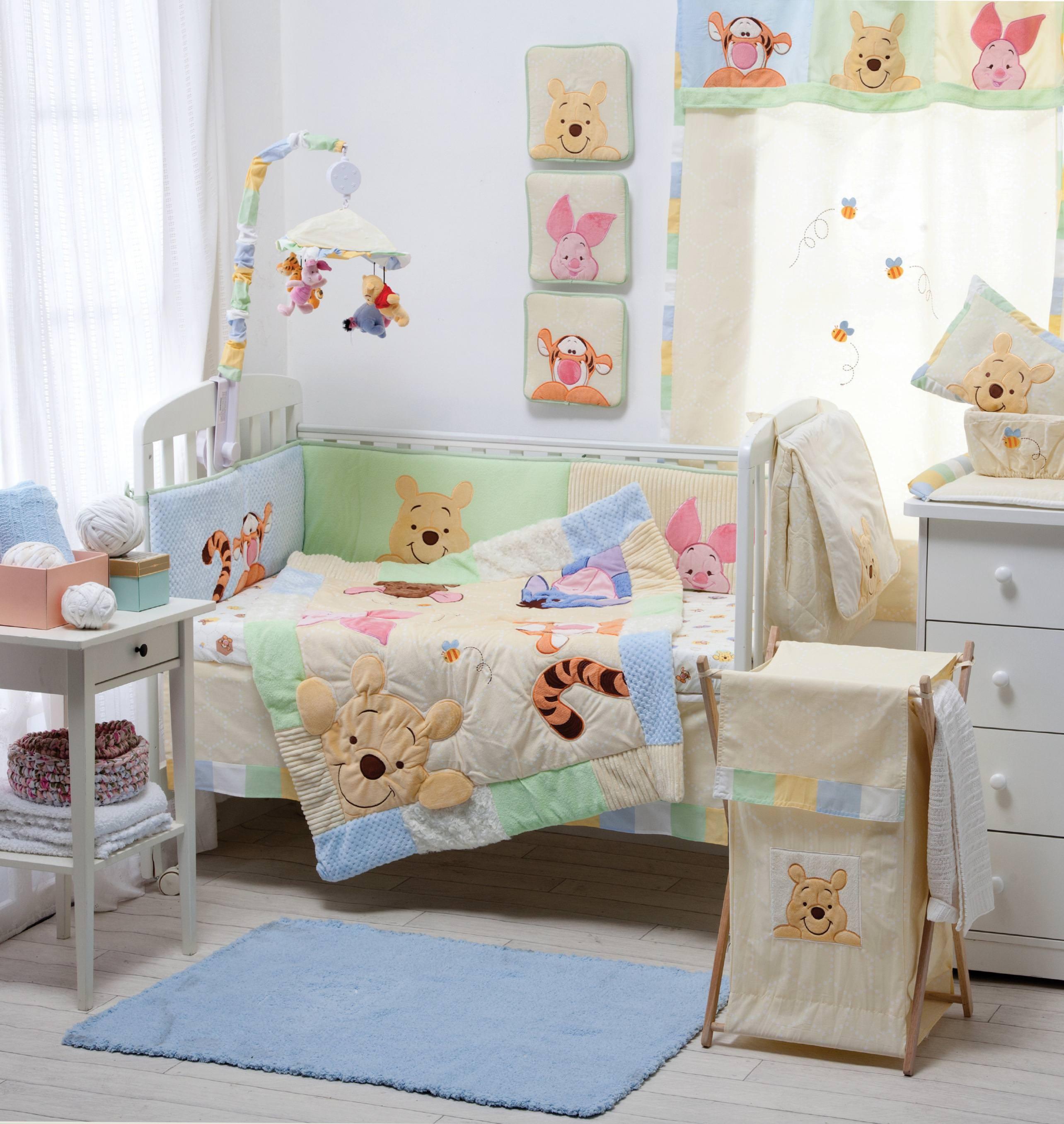 Baby Bedding Sets Hiding Pooh Crib Collection 4 Pc Set Nursery