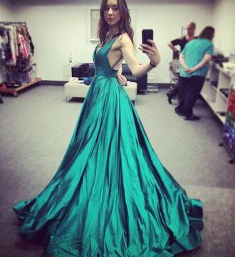 dress gown troian bellisario pretty little liars instagram prom dress green dress