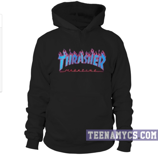 Thrasher Blue Flames Hoodie Teenamycs