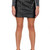Snake Embossed Mini Skirt - Black