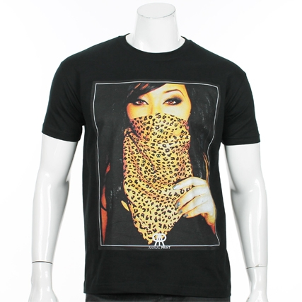 Tee Shirt Animal Print Gangsta Girl Noir - LaBoutiqueOfficielle.com