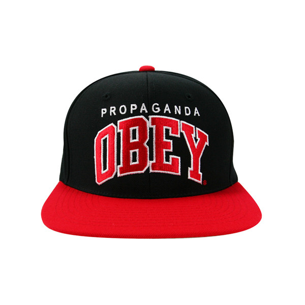 Obey - Throwback Snapback Cap (Black/Red) :: The Attic Onlin... - Polyvore