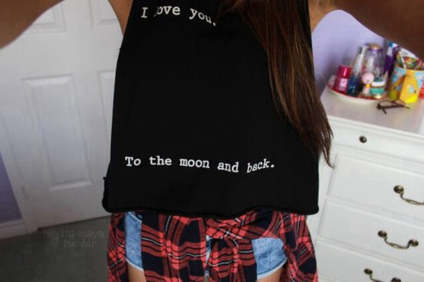 shirt black crop top black crop top black crop top black top crop cropped crop tops crop tops top i love you to the moon and back i love you to the moon and back ily