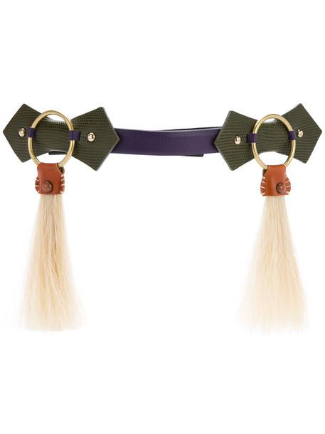 hair belt purple pink