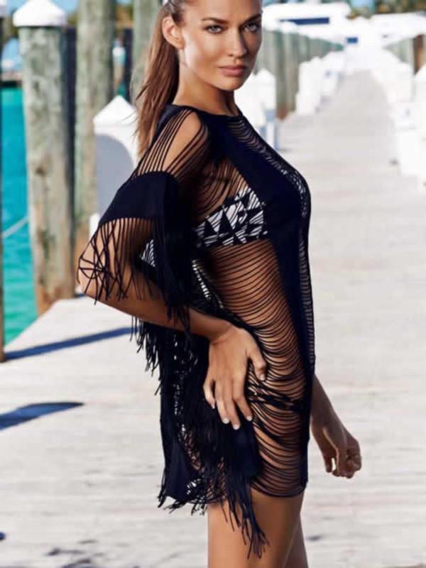 dress cover up clothes fringe cover up pily q 2014 beach beach bikini fashion