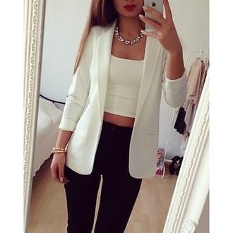 coat white blazer