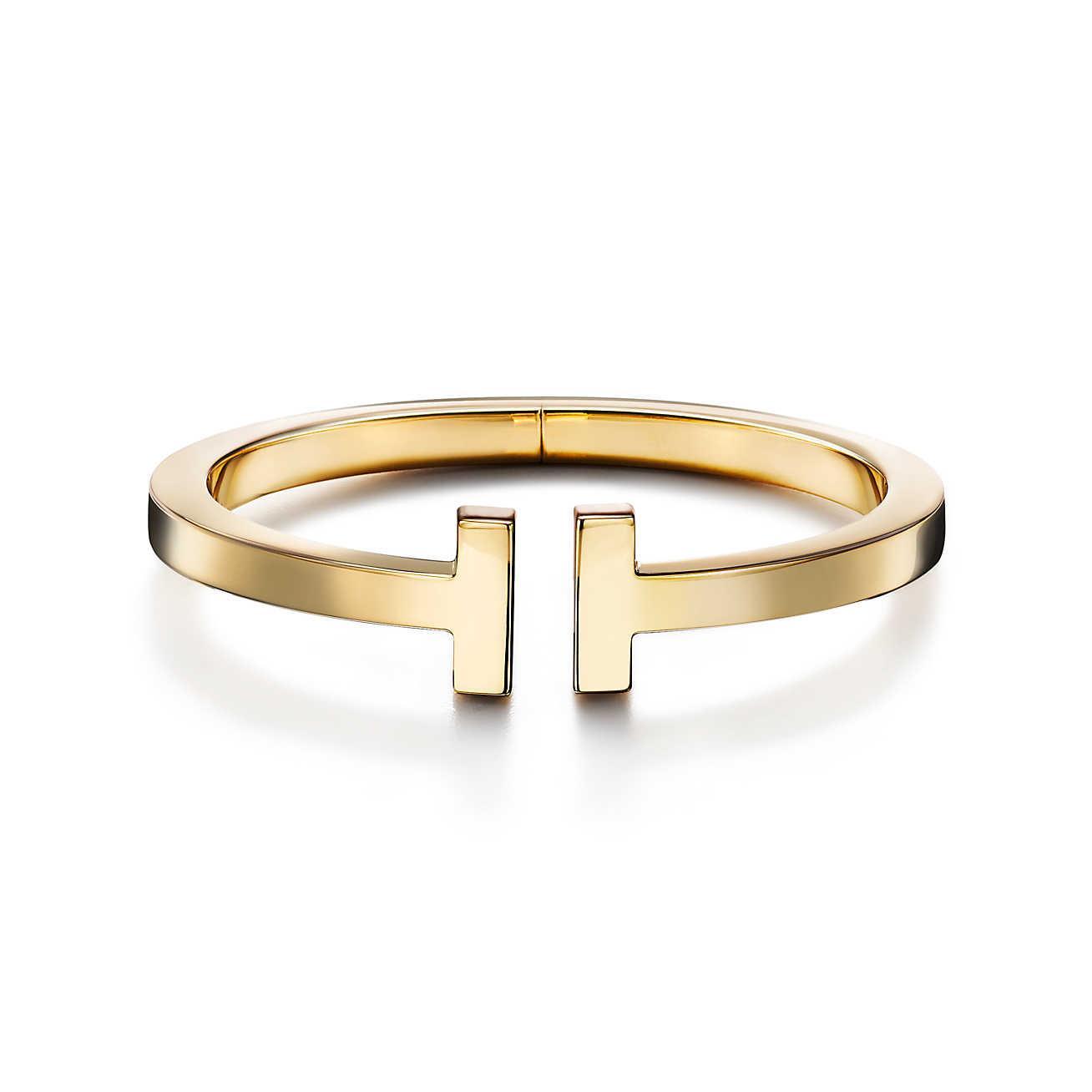 Tiffany T square bracelet in 18k gold, medium