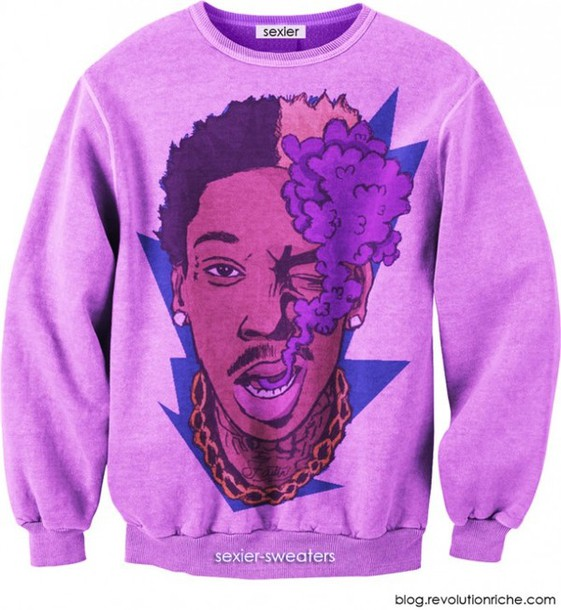 sweater wiz khalifa weed purple sweater weed marijuana leaves smoke